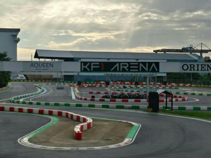 Sirkuit KF1 Arena Singapura, treknya tidak sampai 700 meter. (foto : p-five)