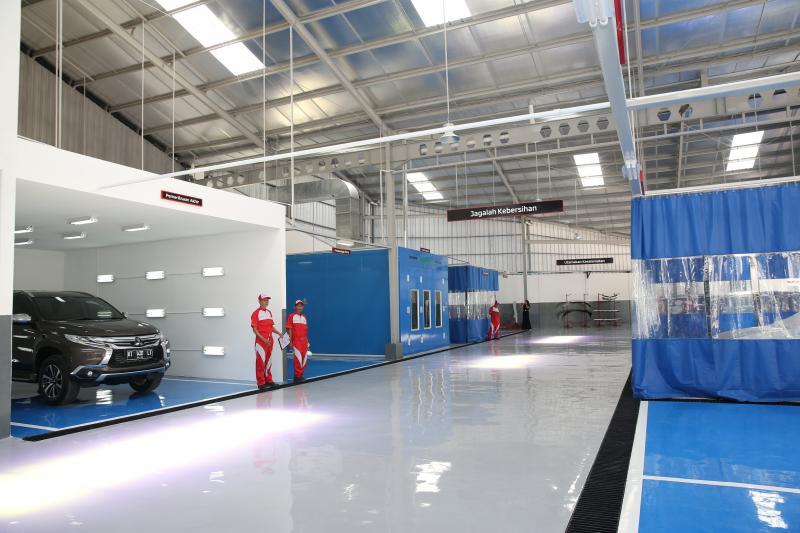 Dealer Mitsubishi Balikpapan dilengkapi fasilitas bodi dan cat