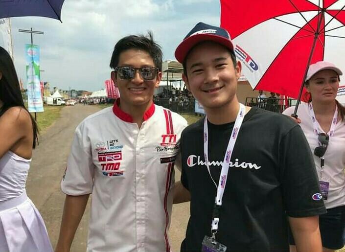 Ferril Sucahyono dan pembalap F1 Indonesia, Rio Haryanto