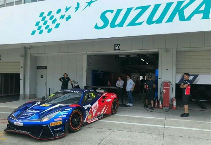Rio Haryanto berpasangan dengan Gregory Teo (Singapura) pada round 3 Blancpain GT World di sirkuit Suzuka Jepang