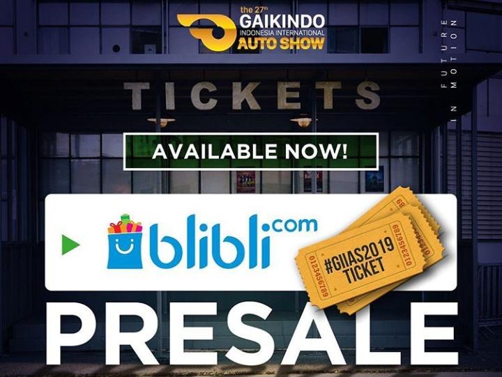 BliBli.com menjadi satu-satunya penyedia tiket pre-sale untuk GIIAS 2019.