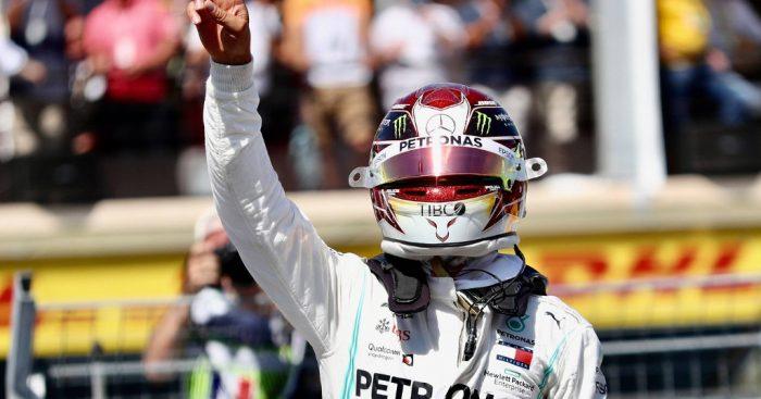 Lewis Hamilton (Mercedes) usai raih kemenangan di GP Prancis, kian kokoh di klasemen sementara. (Foto: f1)