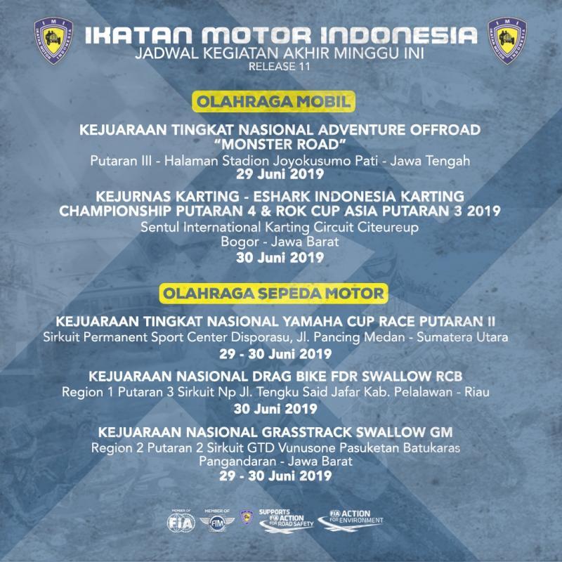 5 event motorsport nasional dan international digelar di Tanah Air pekan ini