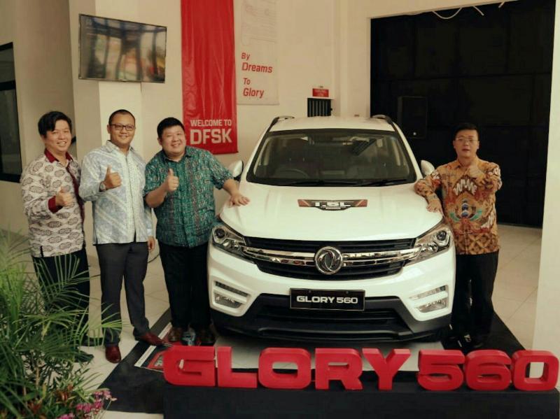 Launching DFSK Glory 560 di Serang, sekaligus tawarkan program khusus selama periode pembukaan. (foto : dfsk)