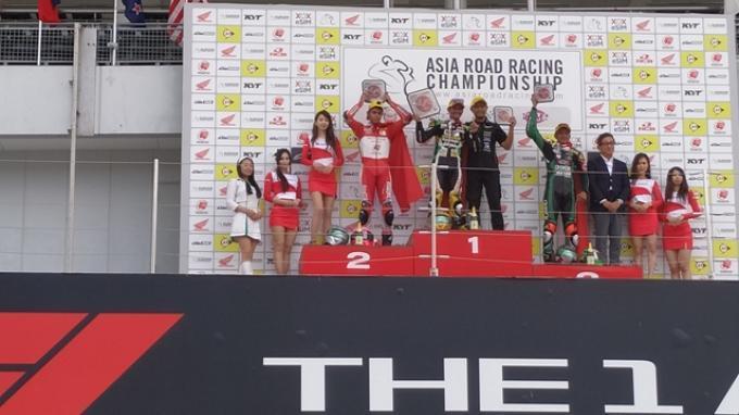 Rider Indonesia sapu bersih podium race 1 ARRC 2019 kelas AP250 (ist)