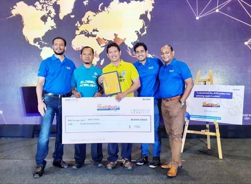Aidin Zuhaiv menjadi pemenang ketiga dalam ajang Tata Motors Global TechFest & SkillFest ke-4 2019 di India. (ist)