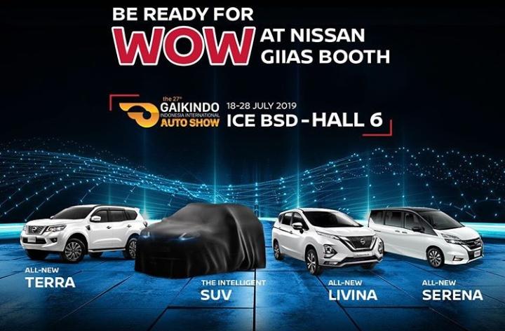 Stan Nissan dan Datsun selama GIIAS 2019 berlokasi di Hall 6 ICE BSD, dan akan menampilkan empat model terbarunya.