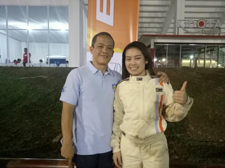 Felicia Ivana & A Hariono, minimal akan ikuti 2 putaran Kejurnas Slalom U23. (foto : bs)