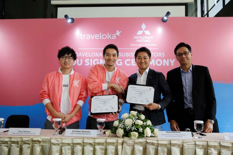 Traveloka jalin kerjasama strategis dengan Mitsubishi Motors Krama Yudha Sales Indonesia (MMKSI)