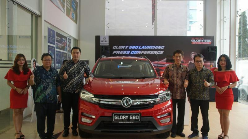 SUV modern DFSK Glory 560 diluncurkan di kota Medan, Sumatera Utara. (foto : dfsk)