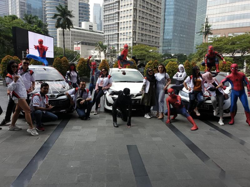 Toyota Yaris Club Indonesia (TYCI) berkolaborasi dengan komunitas Spiderman Verse Indonesia (SVI)