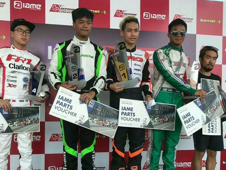 Dari kiri Akheela Chandra, Prassetyo Hardja dan Raka Mulya kuasai podium di Sepang, Malaysia