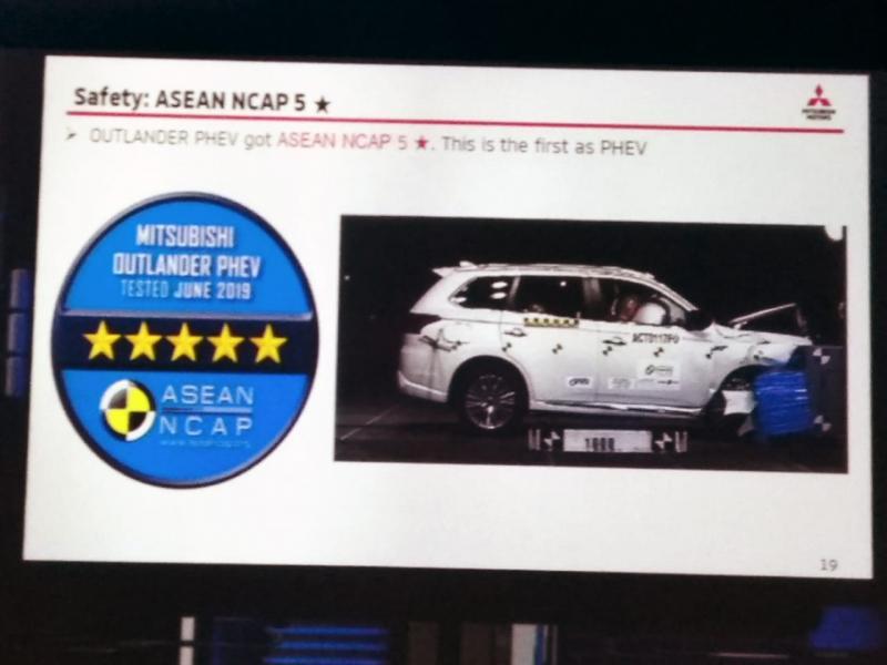 Model ini sekaligus menjadi PHEV pertama yang diuji oleh ASEAN NCAP. Secara keseluruhan, New Outlander PHEV memperoleh skor 87,61 poin. (anto)