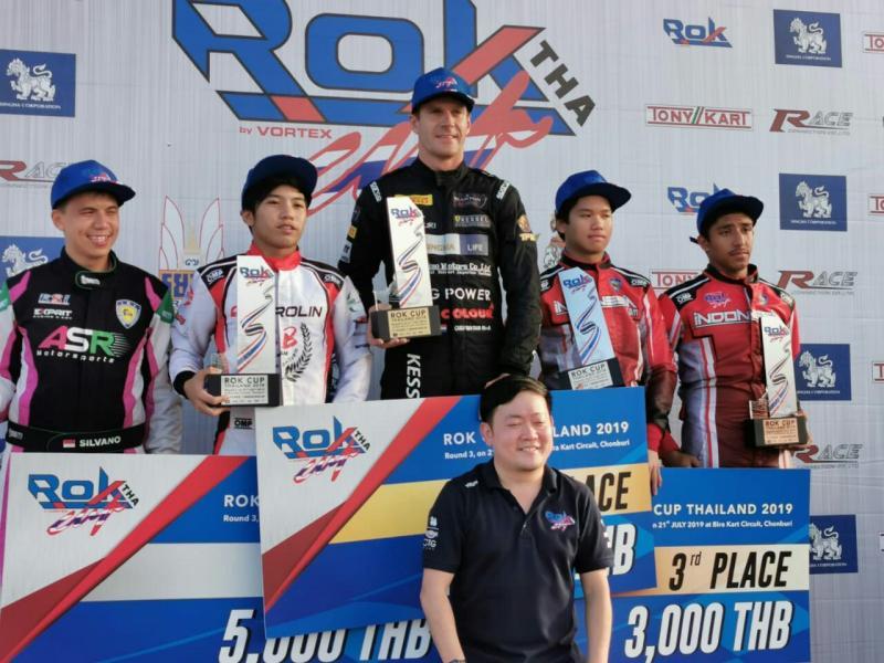 Rava, Silvano dan Akmal naik podium kelas Senior Rok di Thailand