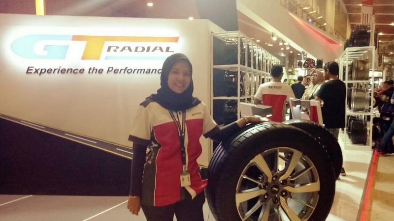 Aulia Fitri Indrasari, seluruh produk ban GT Radial diskon 30 persen selama pameran GIIAS 2019