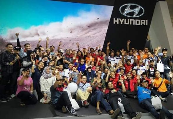 Kehadiran para komunitas ini selain eksistensi juga sebagai bukti model-model produk Hyundai masih dicintai penggunanya di Indonesia. (dok. Hyundai)
