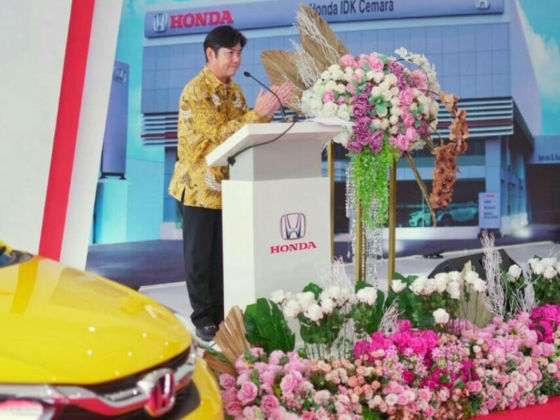 Takehiro Watanabe saat peresmian dealer Honda IDK Cemara di Medan,  Sumatera Utara