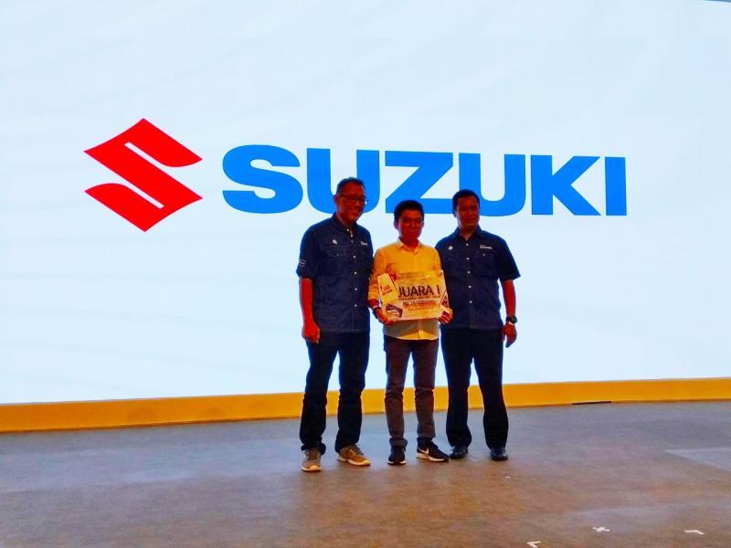 Logo Halo Suzuki ini dibuat dengan melibatkan konsumen lewat lomba desain logo. (anto)