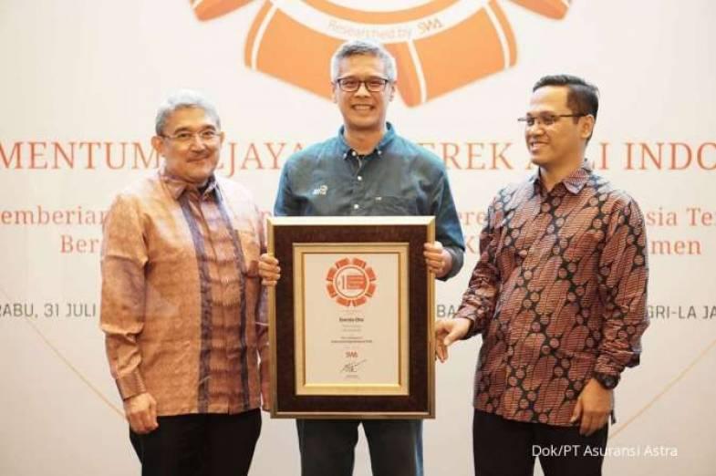 Untuk kelima kalinya secara berturut-turut, Garda Oto, produk asuransi mobil dari Asuransi Astra, berhasil meraih penghargaan Indonesia Original Brands 2019. (dok. Asuransi Astra).