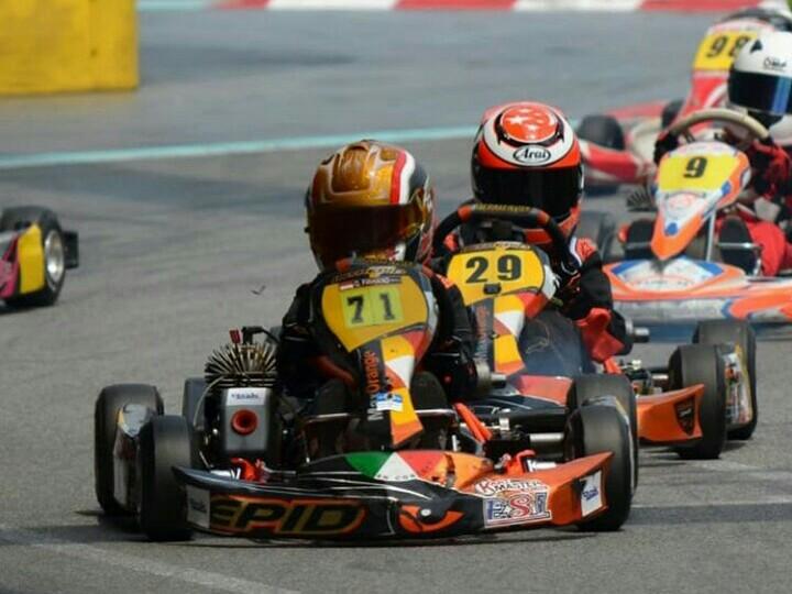 Qarrar Firhand juara karting fun race di sirkuit KF1 Singapura