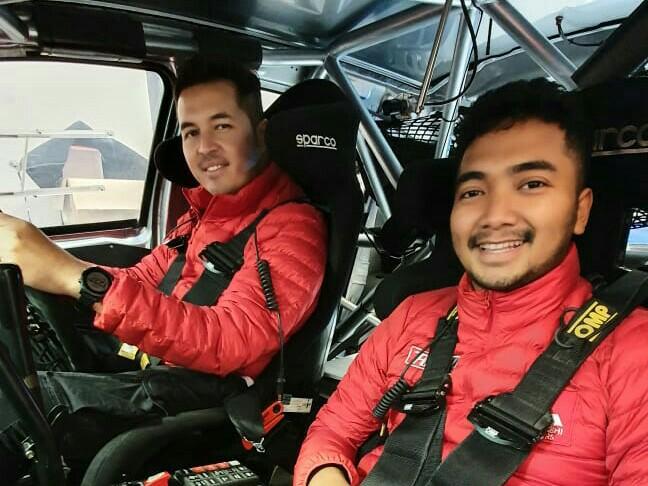 Rifat Sungkar dan M Redwan, pereli Xpander Rally Team