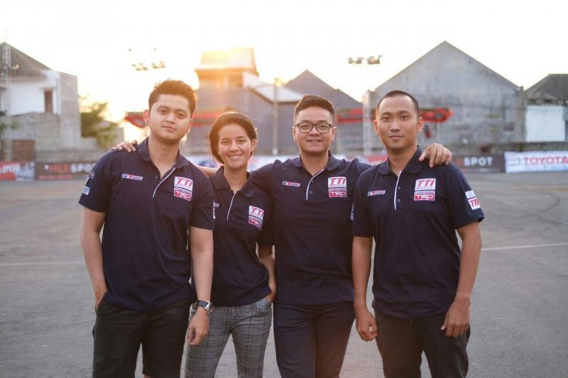 Kuartet peslalom Toyota Team Indonesia berjaya di kejurnas slalom MLD Spot Auto Gymkhana Tulungagung