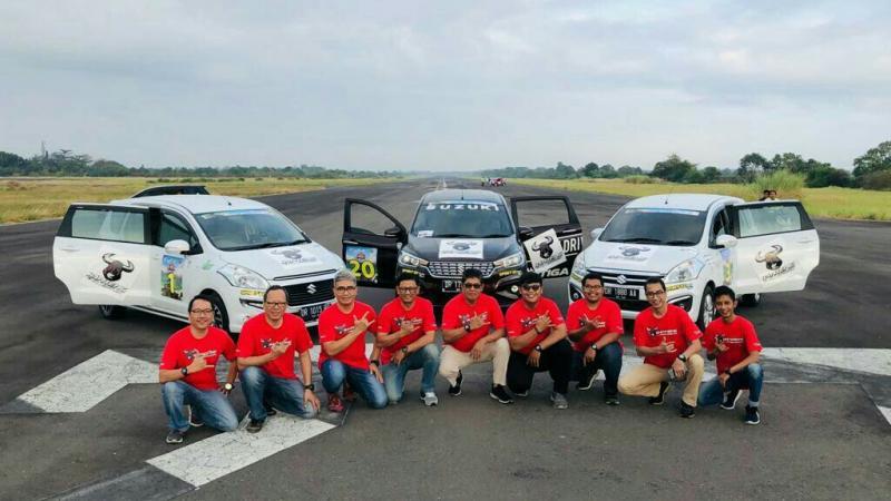 Skuad Banteng Motorsport di kejurnas time rally Lombok, NTB 2019