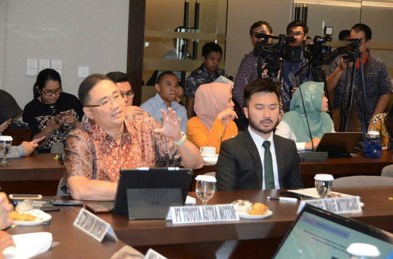 Fransiscus Soerjopranoto dalam Forum Group Discussion tentang mobil listrik di Jakarta, Kamis