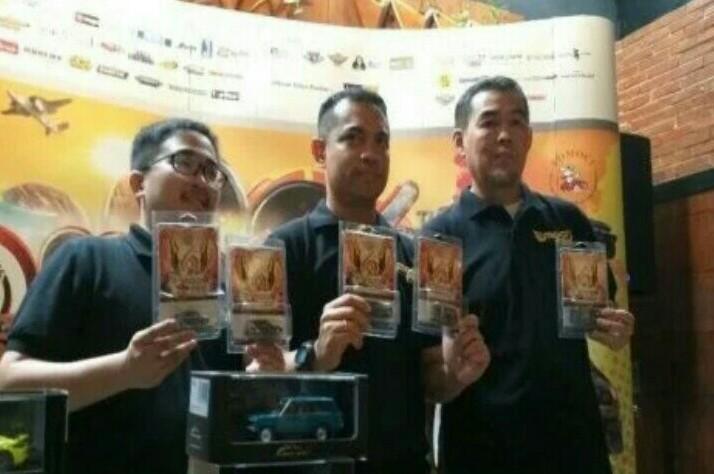 Ronny Martinus (tengah) pada preskon Tomoci Fair 6 di Jakarta
