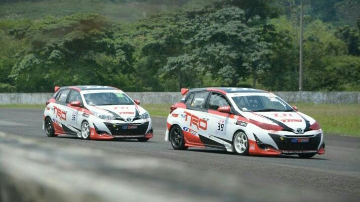 Toyota Yaris dengan tampilan dinamis dan andal di ajang balap