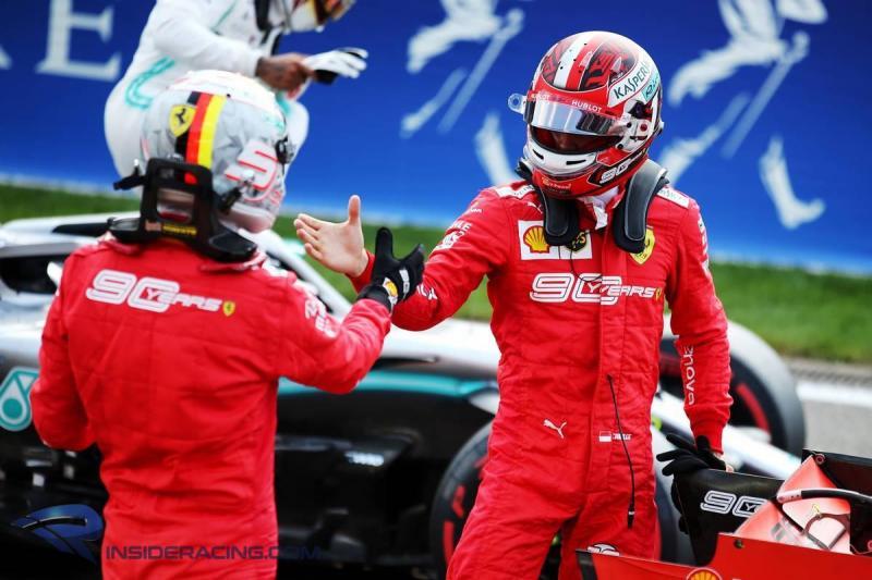 Sebastian Vettel ucapkan selamat atas keberhasilan Charles Leclerc memenangi F1 GP Belgia (ist)