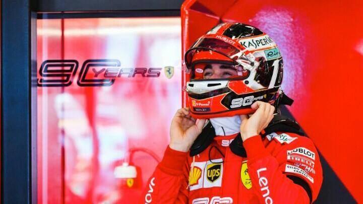 Charles Leclrec, momen perdana berseragam Ferrari di Sirkuit Monza. (Foto: sportkeeda.com)