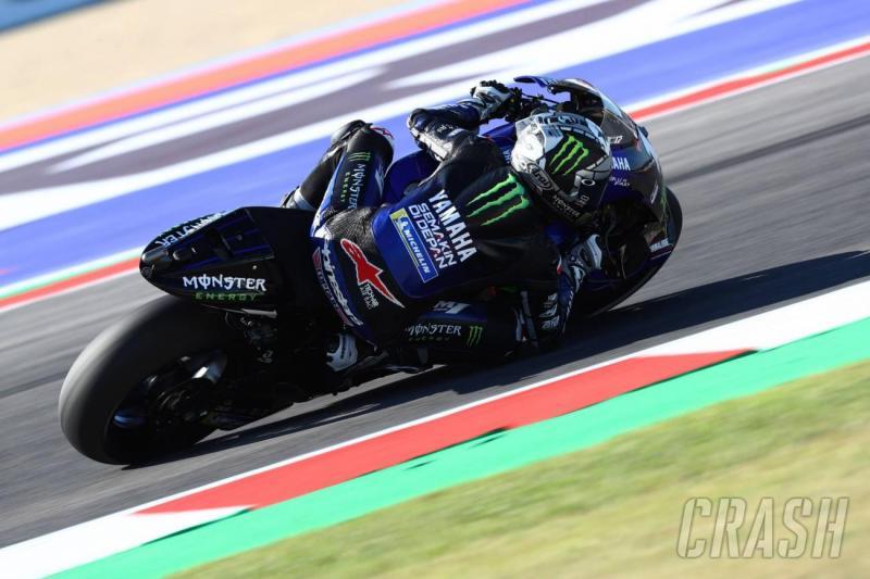 Start terdepan di GP San Marino pada Minggu (15 September 2019), Maverick Vinales (Yamaha) janji fight meraih juara. (Foto: crash)