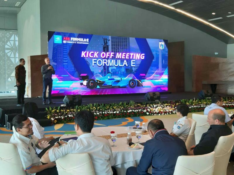 Kick off meeting tim Formula E di gedung Balaikota Jakarta
