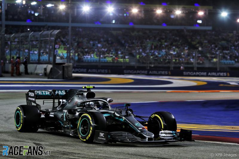 Valtteri Bottas (Mercedes), dikecewakan rekan sendiri di GP Singapura. (Foto: racefans)