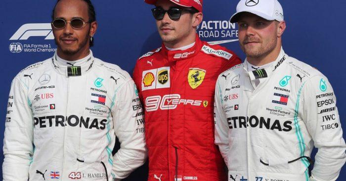 Tiga pembalap teratas di klasemen F1 2019:  Lewis Hamilton, Valtteri Bottas dan Charles Leclerc menyongsong GP Rusia pekan ini. (Foto: planetf1)