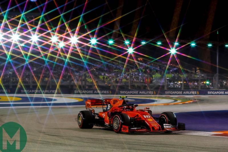 Pakai nose baru di GP Singapura, Charles Leclerc juga dibekali piranti baru di GP Rusia akhir pekan ini. (Foto: motorsportmagazine)