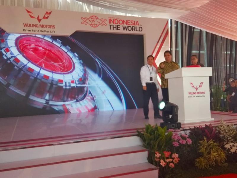 Seremoni turut dihadiri Airlangga Hartarto, Menteri Perindustrian Republik Indonesia beserta segenap jajarannya dan instansi terkait. (anto)