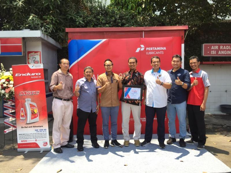 PT Pertamina Lubricants meluncurkan bengkel Enduro Express (EX) di SPBU Kelapa Gading 34-14201