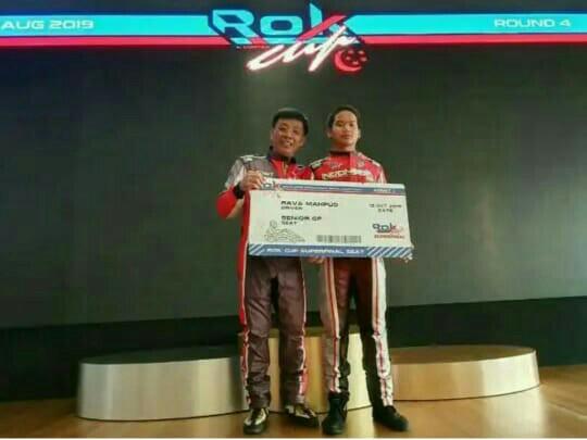 Rava, pegokart Indonesia pertama lolos ke Rok Super Final, setelah menjuarai Rok Cup Singapore 2019