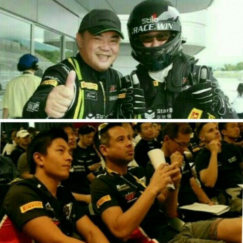 Dari atas Setiawan Santoso (pake helm) dan Ringo Chong,  bawah Rio Haryanto dan David Tjipto