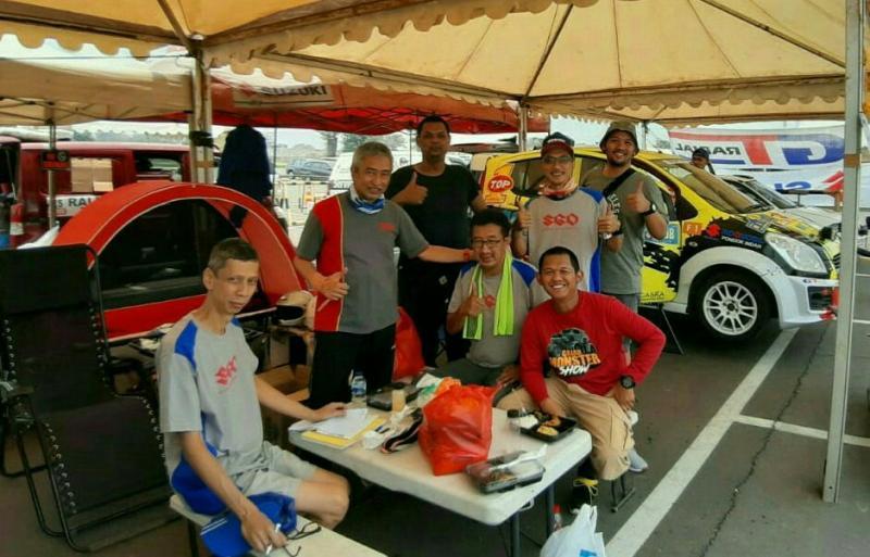 Para peserta Meikarta Sprint Rally 2019 bersiap untuk start SS1 pada pukul 15.00 WIB.