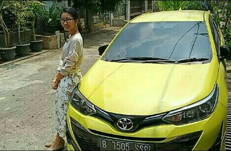 Gabriela, co-driver milenial dan New Toyota Yaris TRD Sportivo. (foto : bs)