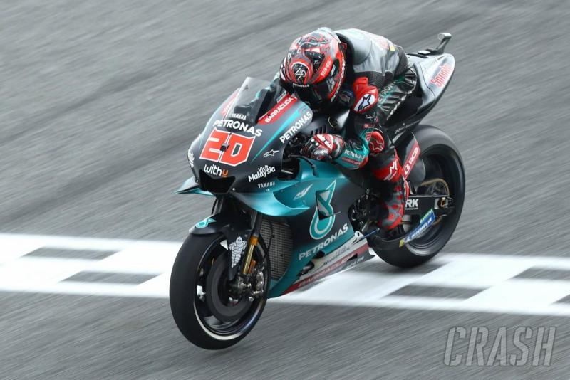 Fabio Quartararo (Petronas Yamaha), on fire menyongsong kemenangan perdana di MotoGP. (Foto: crash)