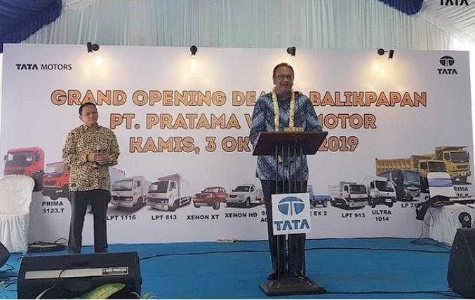 Biswadev, Kami sangat senang Tata Motors dapat hadir di Balikpapan melalui mitra kami PT Pratama Wana Motor (PWM). (dok. TMDI)
