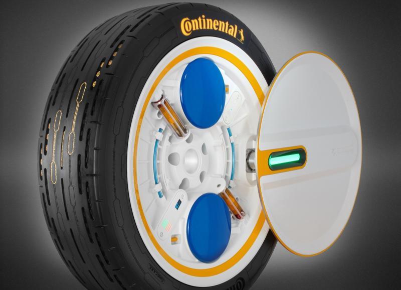 Continental CARE, ban yang memiliki sensor untuk mengevaluasi data mengenai kedalaman tapak, kemungkinan kerusakan, suhu ban, dan tekanan ban