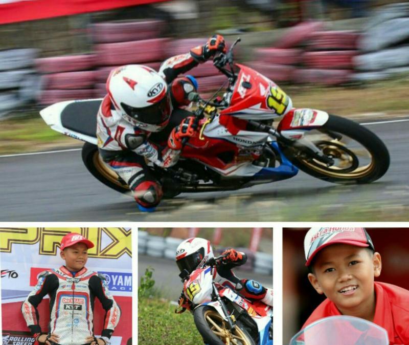 Decksa Amer, putra mantan pembalap motor nasional Wawan Hermawan yang sekarang balap di kelas ECU Standar