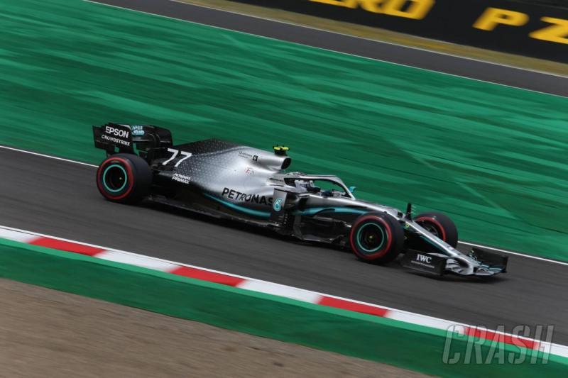 Tercepat di FP2, Valtteri Bottas (Mercedes) peraih pole position jika FP3 dan kualifikasi GP Jepang tak terselenggara. (Foto: crash)