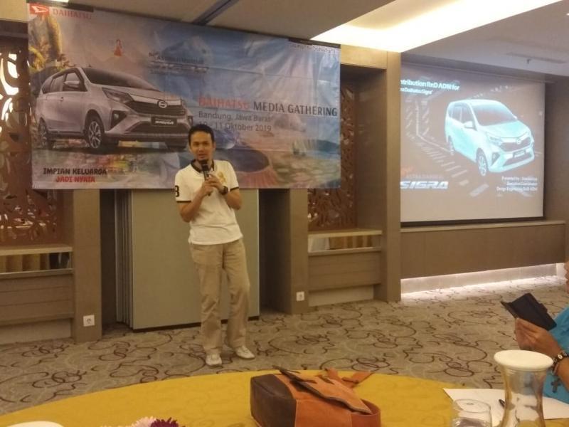 Soni Satriya, semua pengembangan New Daihatsu Sigra dilakukan oleh para engineer anak bangsa di R&D PT ADM Indonesia. (anto)