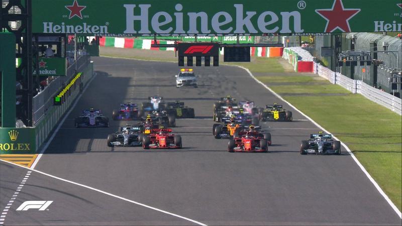 Start GP Jepang, buruk bat Ferrari dan keren buat Mercedes. (Foto: f1)